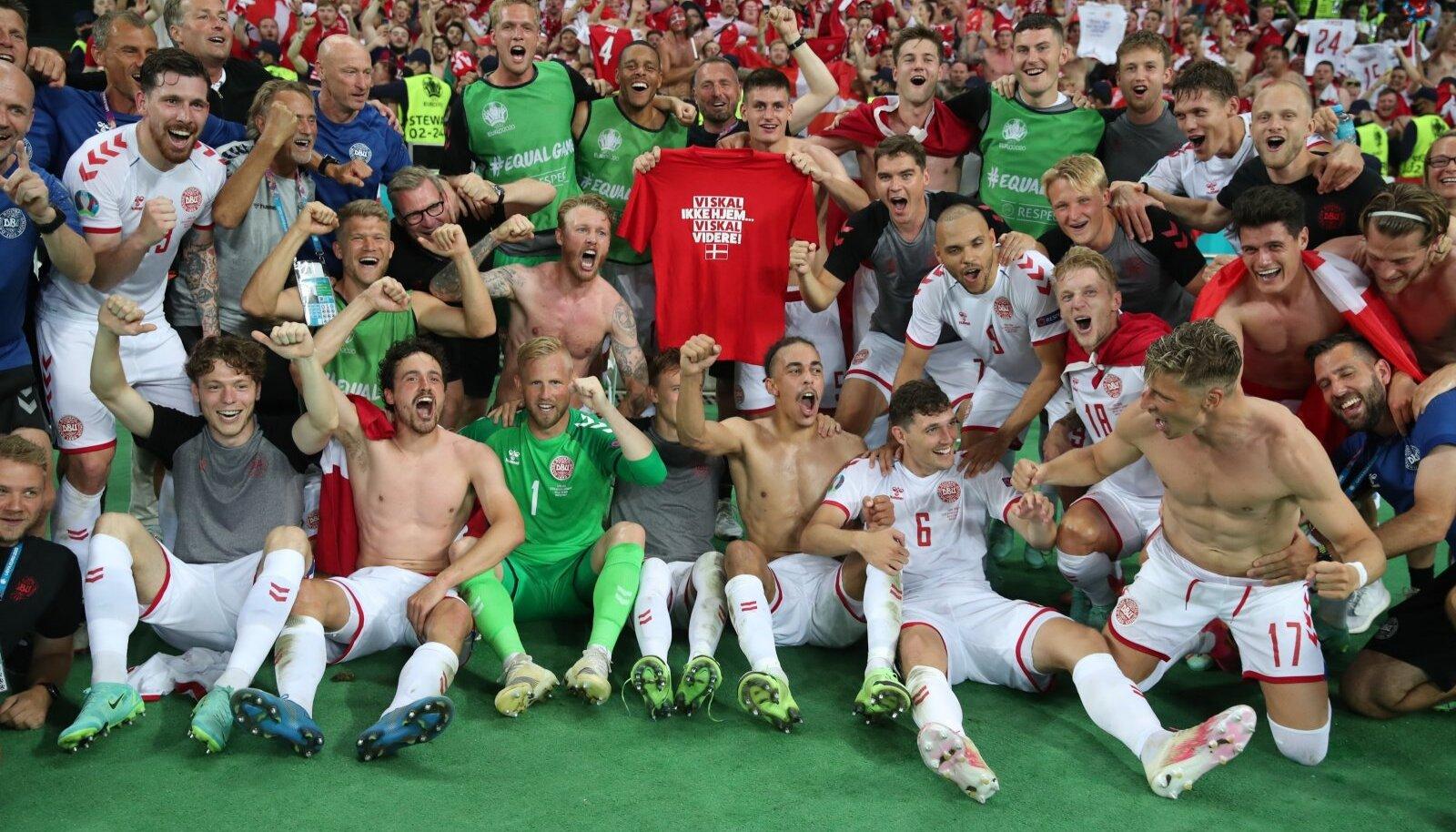 Taani koondis võib rõõmustada, kuna pääs EM-i poolfinaali on käes.