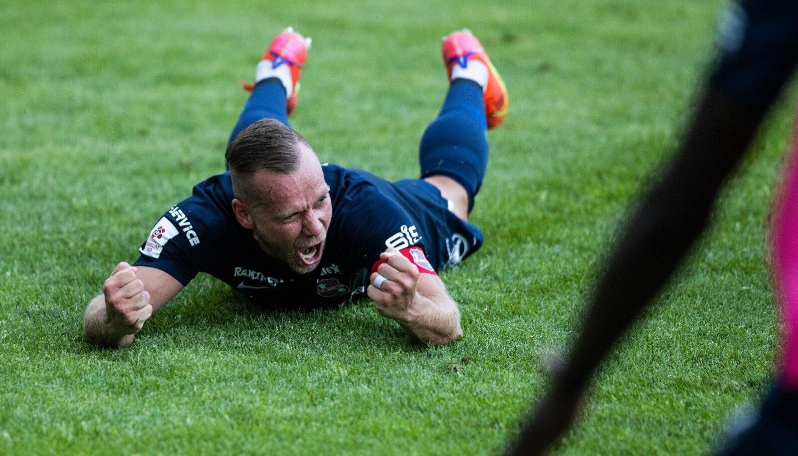 Paide kapten Andre Frolov 30. juunil mängus FC Flora vastu.