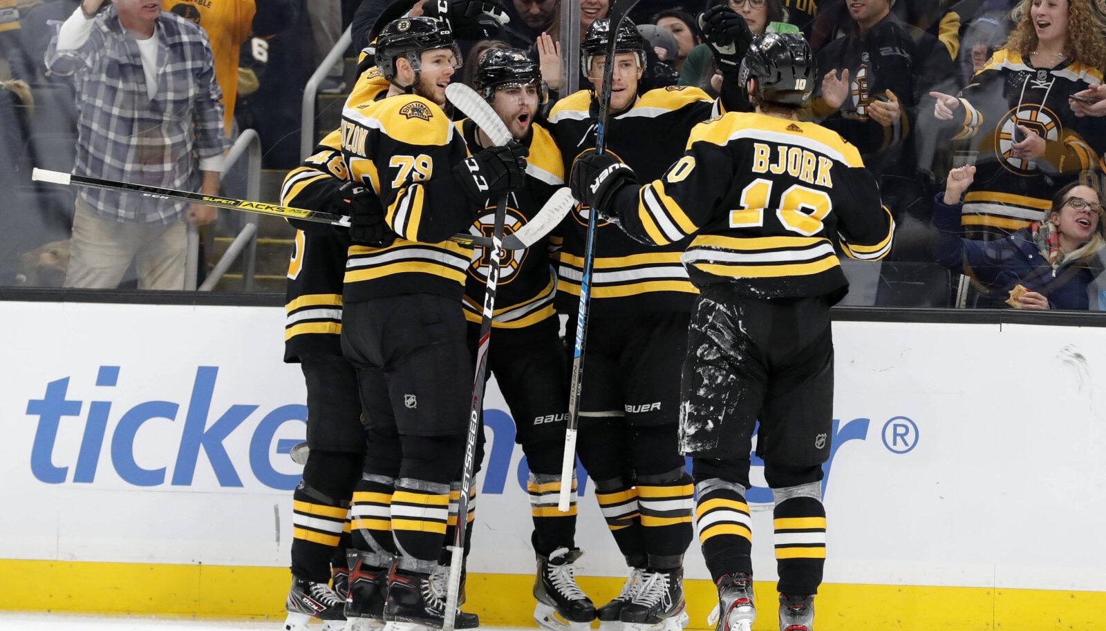 Hooaja pooleli jäämise hetkel hoidis põhiturniiril liidrikohta Boston Bruins.