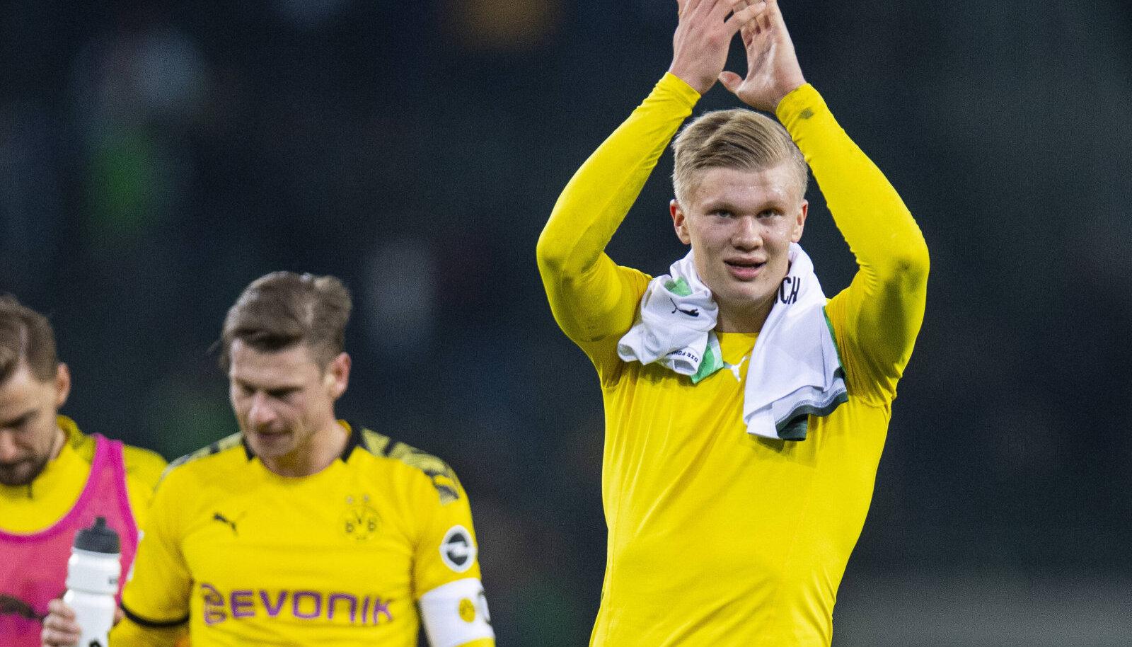 16. mail saab väljakule naasta ka Dortmundi Borussia noor ründetäht Erling Braut Haaland.
