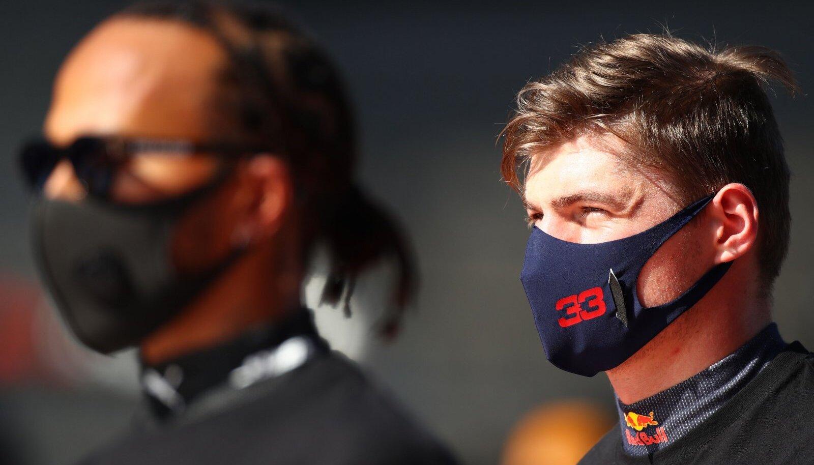 Lewis Hamilton ja Max Verstappen