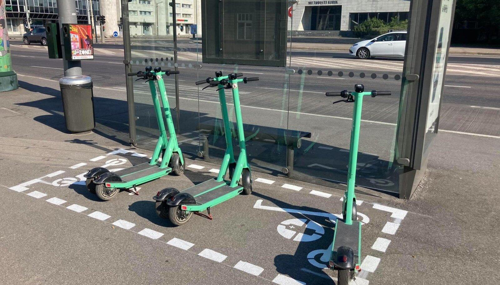 Praegu on Tallinna kesklinna plaanitud 70 sellist parkimisala. Parkimiskohad on mõeldud eelkõige renditeenuse pakkujatele, et nad saaksid sinna viia laetud tõukerattad sõidu alustamiseks. Kuid ka sõitjate hulgas leiavad parkimiskohad järjest rohkem kasutust.