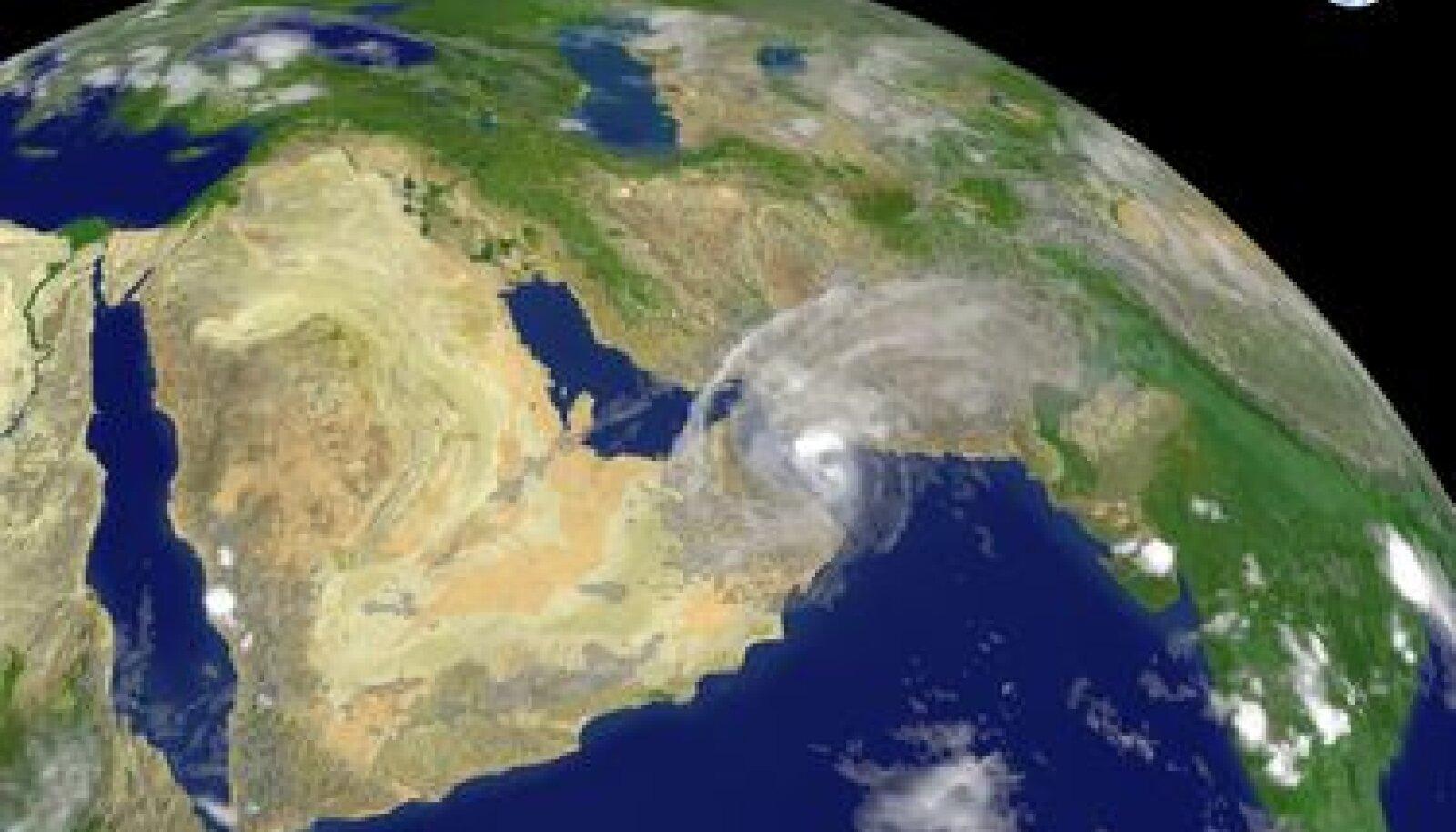 Araabia poolsaar kosmosest vaadatuna