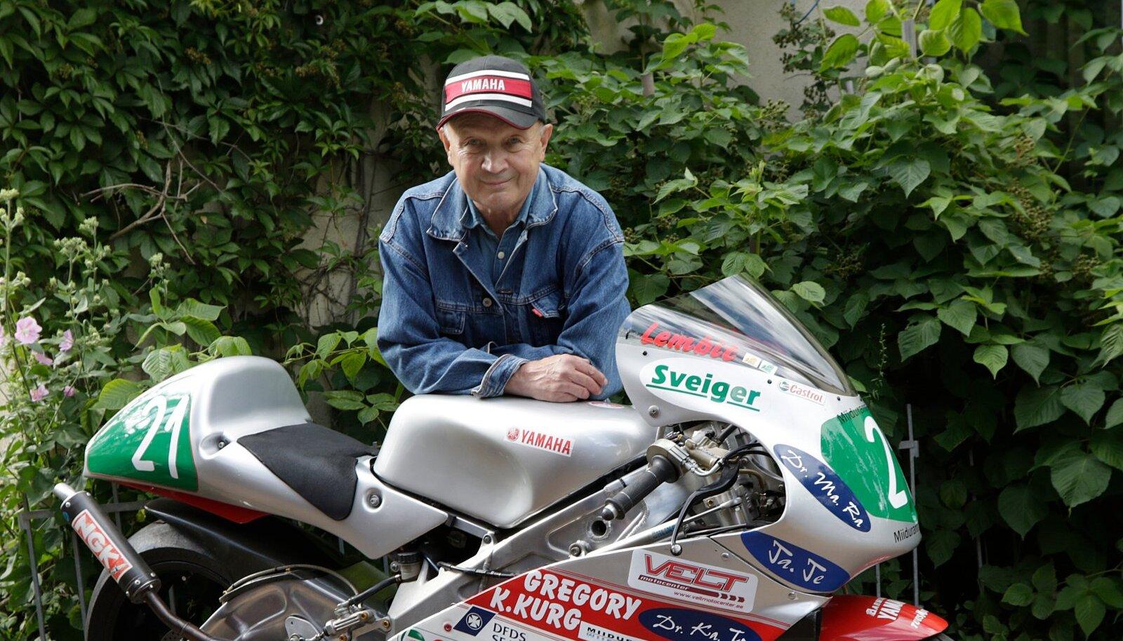 Lembit Teesalu mootorrattal, millega lõpetas oma sportlaskarjääri
