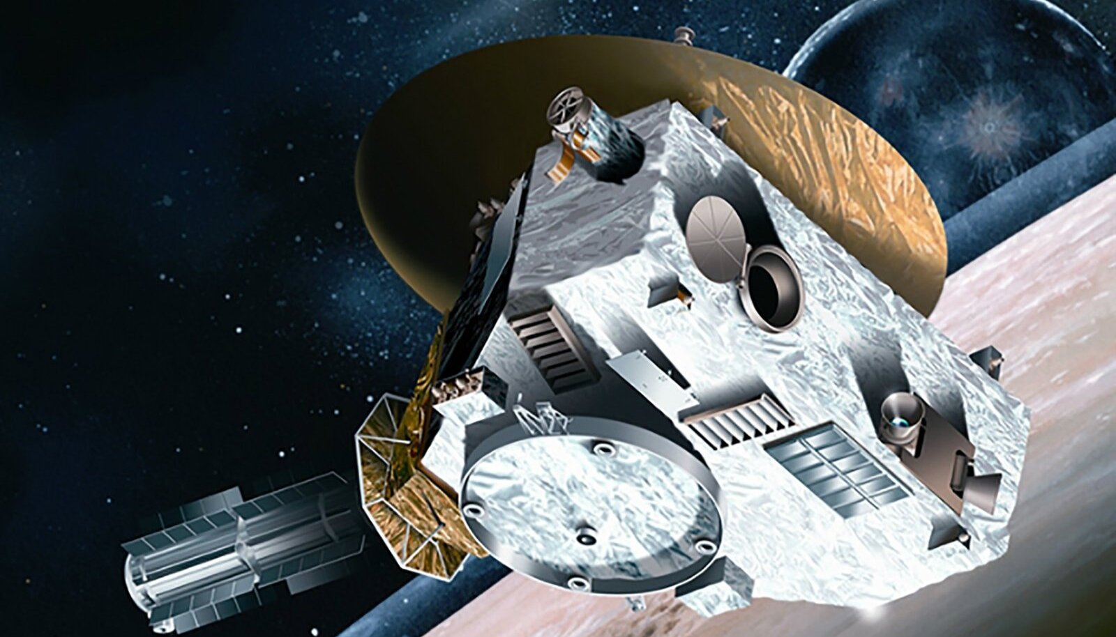 Kunstniku loodud kujutis NASA's New Horizon kosmosesondist