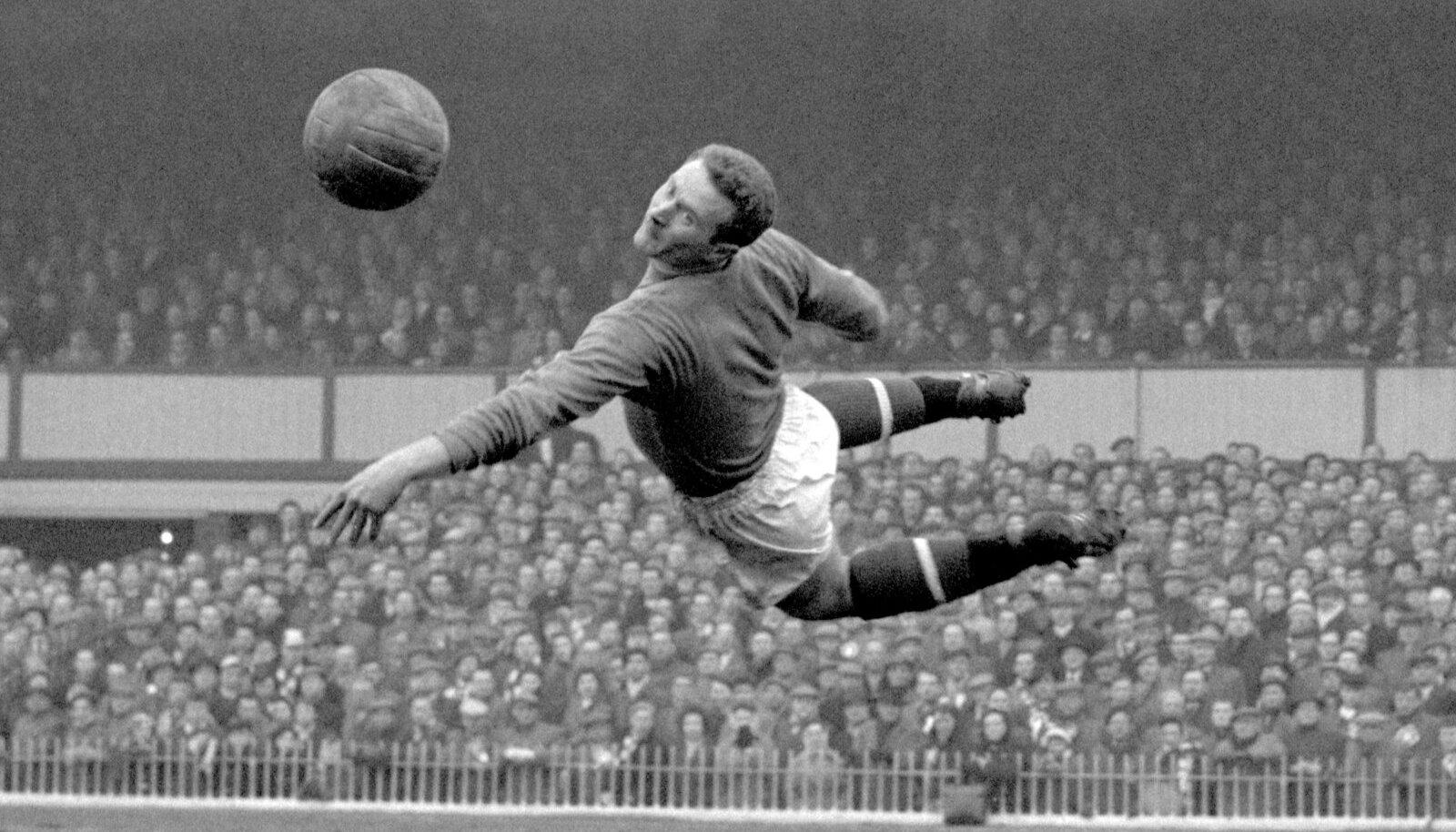Harry Gregg 1958. aasta 22. märtsil FA Cupi poolfinaalmängus Fulhami vastu.