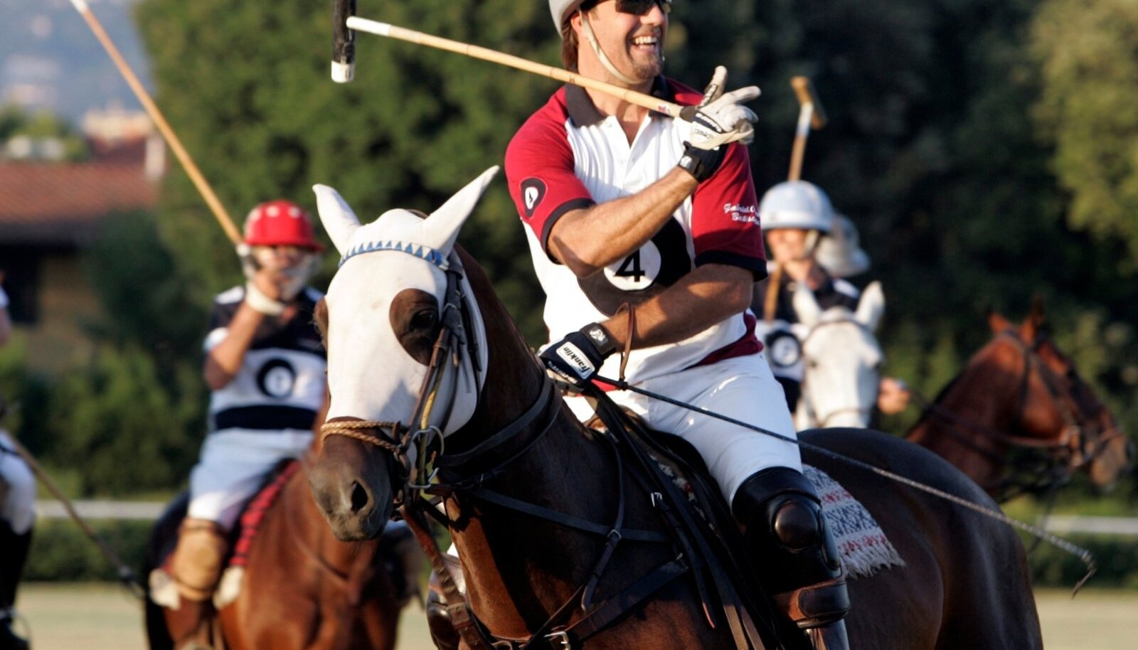 Fromer Argentine soccer player Batistuta plays polo in event by Italian fashion house Toscana during the Pitti Uomo men's fashion week in Florence