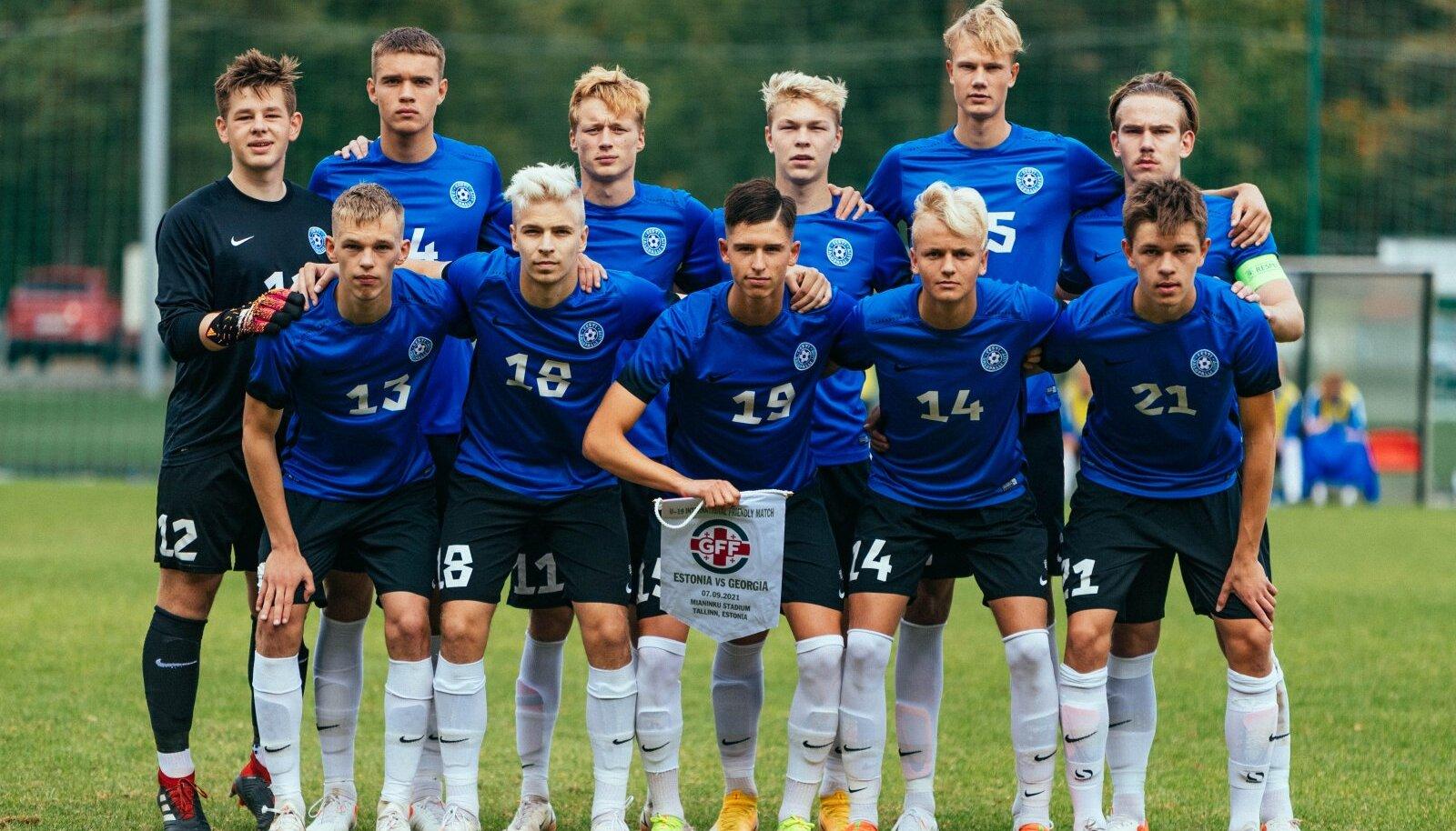 Eesti U19 koondis.