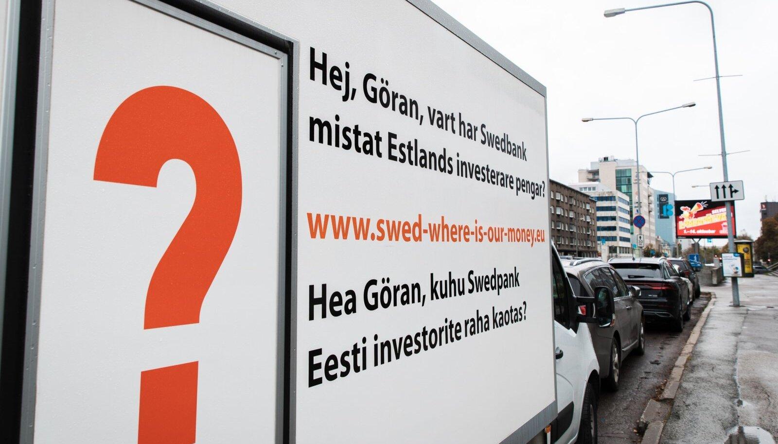 Kaks aastat tagasi tervitas Swedbanki nõukogu esimeest Göran Perssoni selline sõnum.