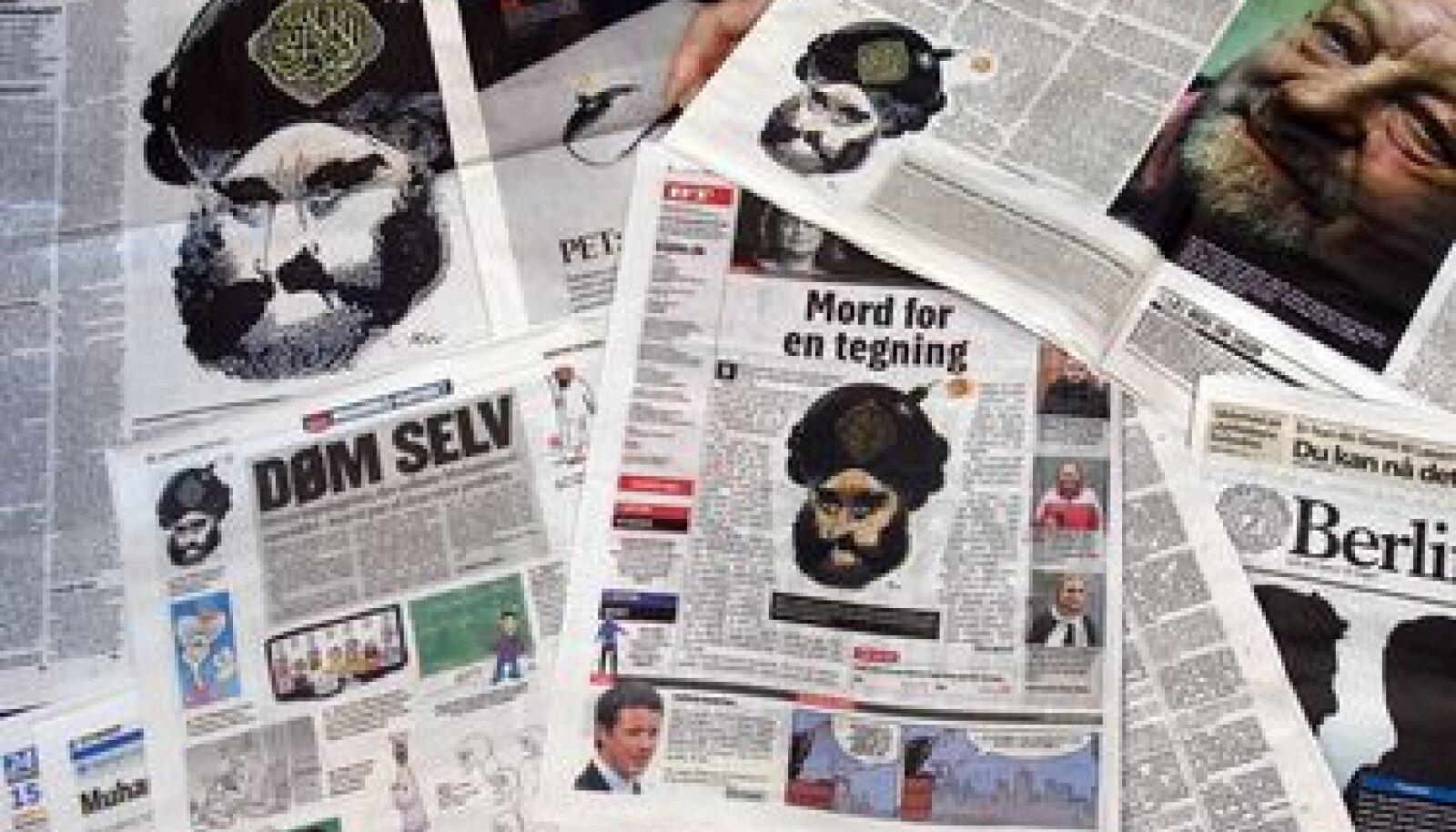 Taani ajalehtedes ilmunud prohvet Muhamedi karikatuurid