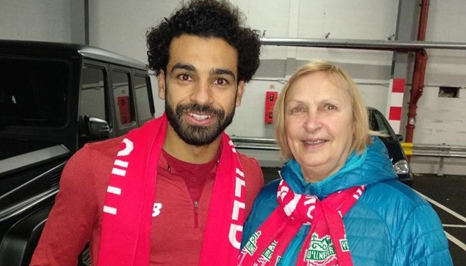Liverpooli ründaja Mohamed Salah ja Luule Komissarov