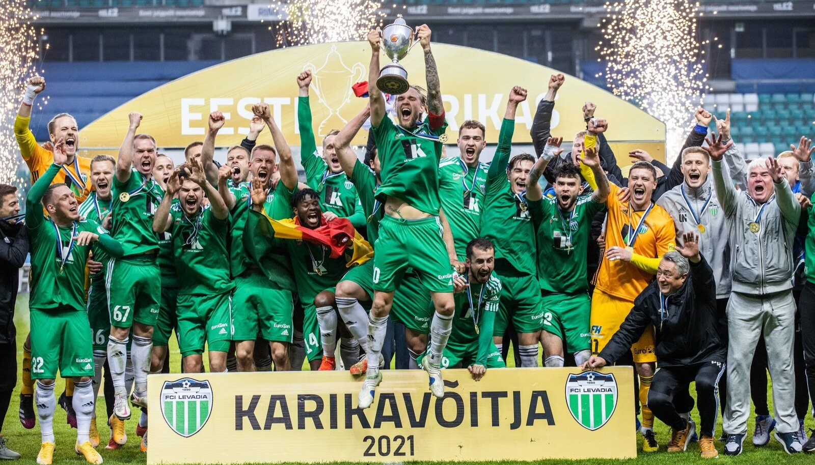 FCI Levadia on kõige edukama klubina võitnud kümme Eesti karikat. Viimati olid nad parimad 2018. aastal.