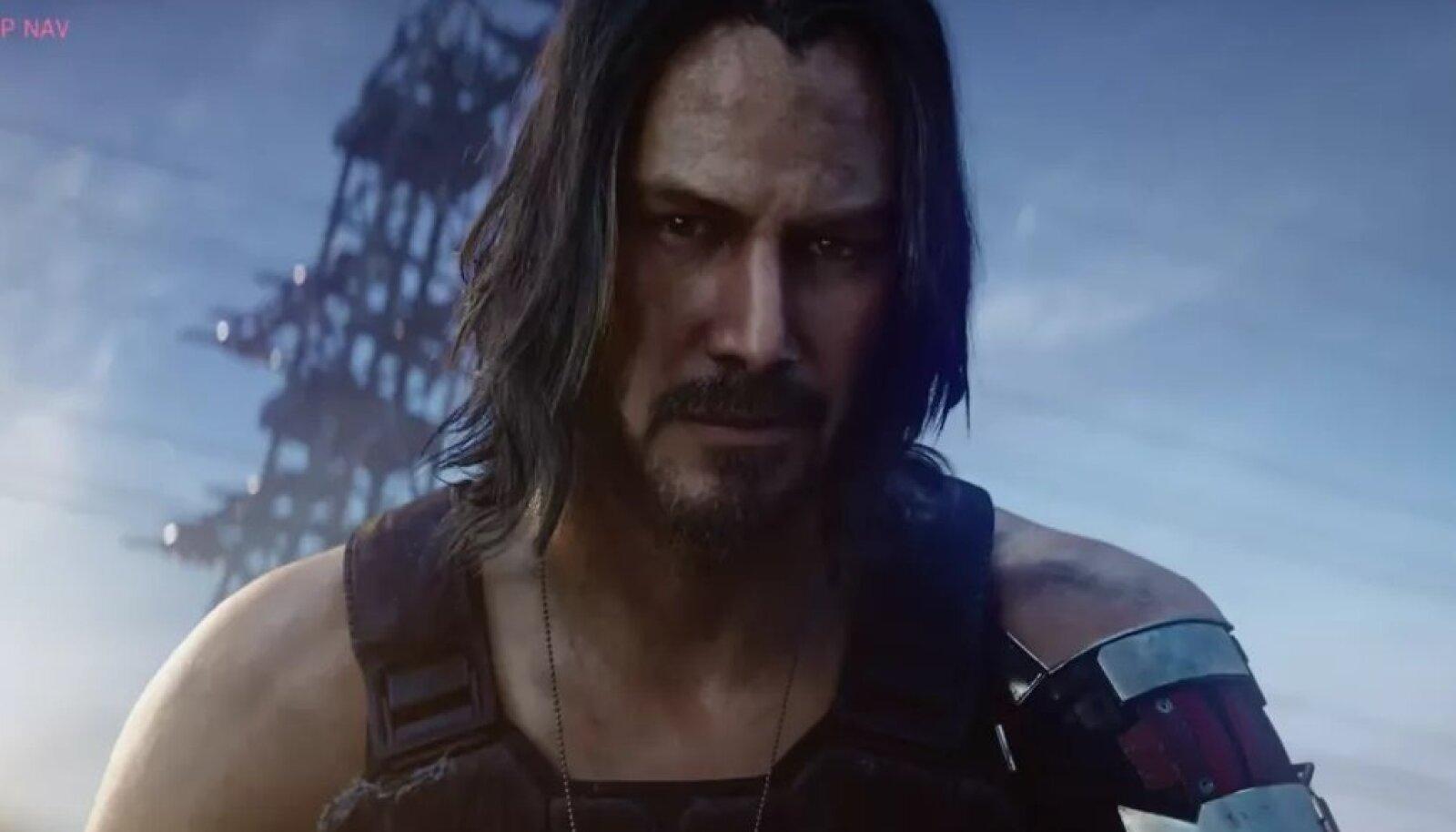 """""""Cyberpunk 2077"""" müügiedule aitas kindlasti kaasa ka see, et 2019. a juunis selgus, et teosele laenas oma hääle ja näo filmitäht Keanu Reeves (foto: ekraanitõmmis mängust)"""