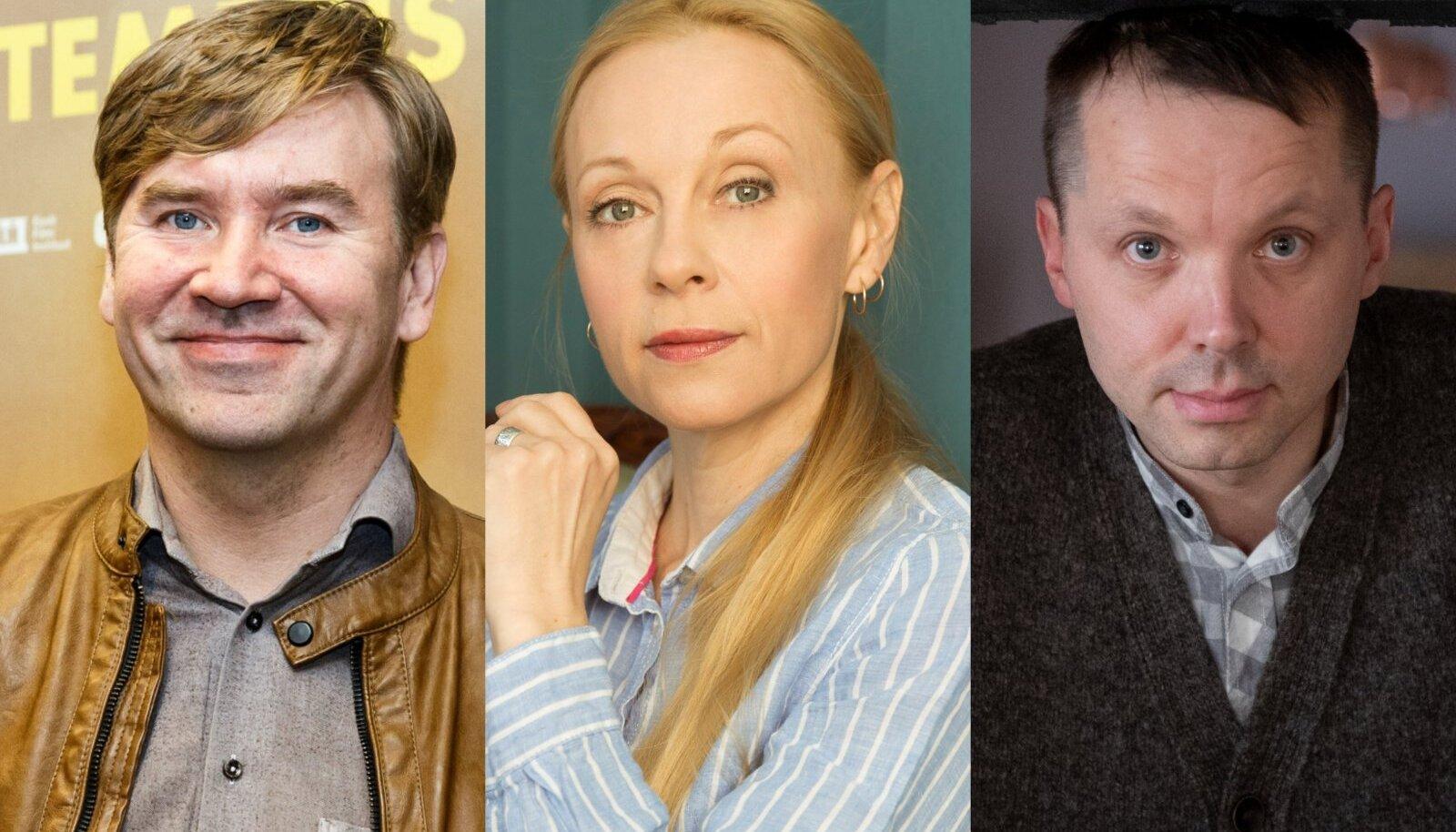 KODUST TÖÖLE? Linnateatri näitlejad Indrek Ojari, Piret Kalda ja Argo Aadli.