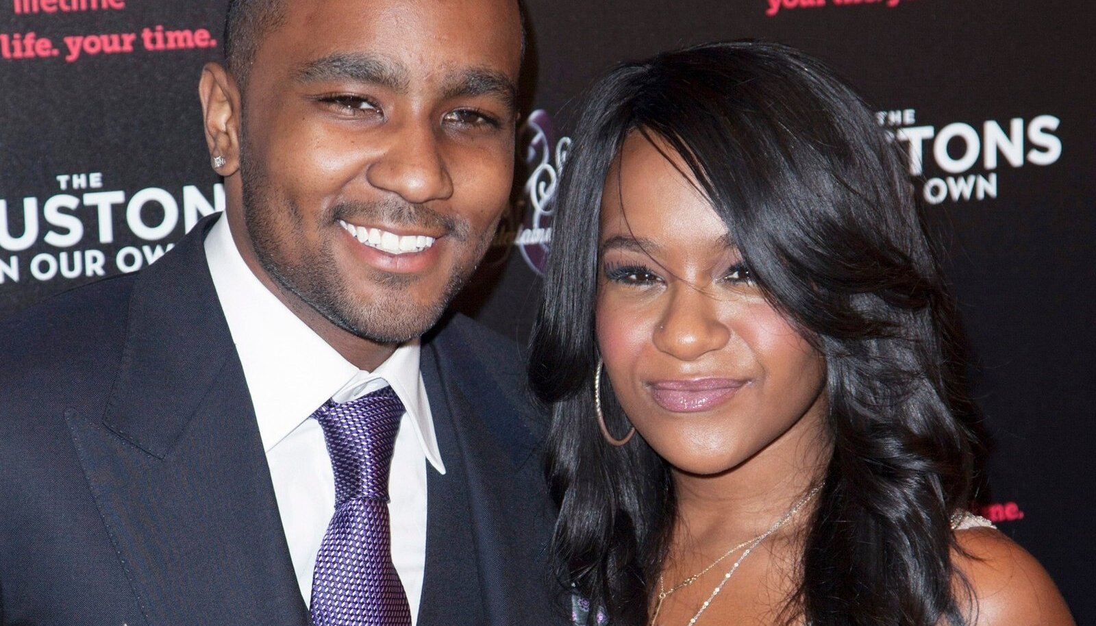 """Nick Gordon and Bobbi Kristina Brown attend the opening night of """"The Houstons: On Our Own"""" in New York"""