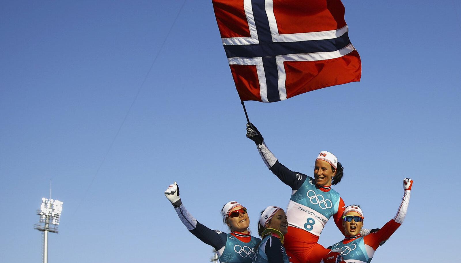 Marit Björgen tõstis Norra esikohale