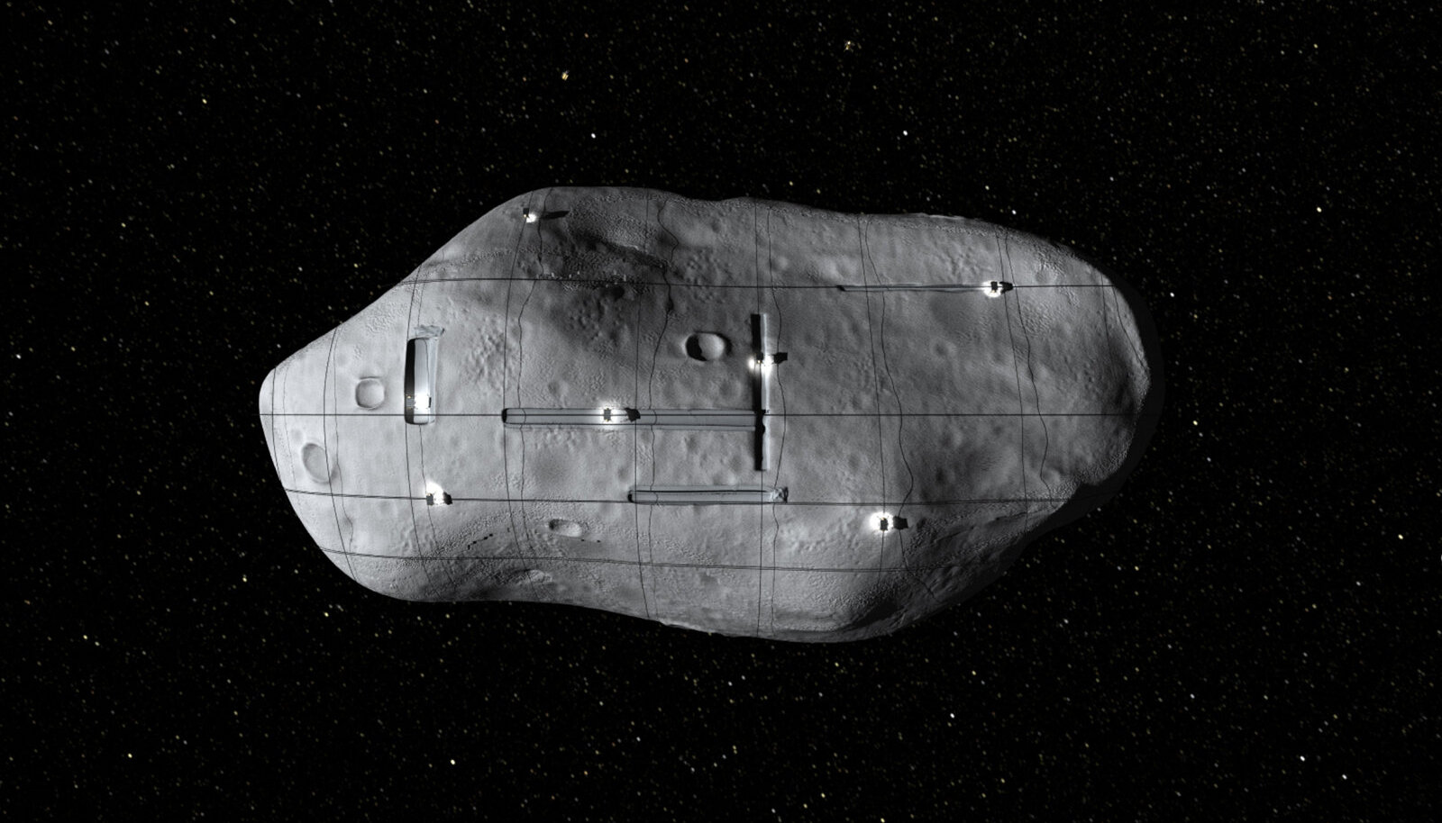 Planetary Resources'i nime kandva ettevõtte kujutis näitab, milline võiks kaevandamine asteroididel välja näha