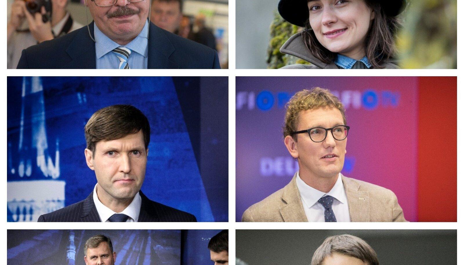 Suuremate erakondade linnapeakandidaadid Tallinnas