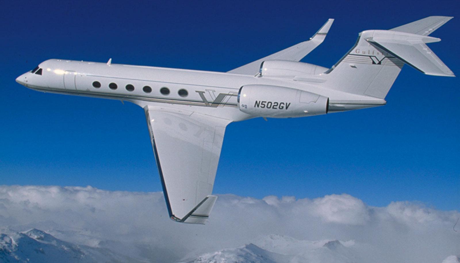 Gulfstream V. Sama tüüpi lennukiga sõidab ka Lionel Messi.