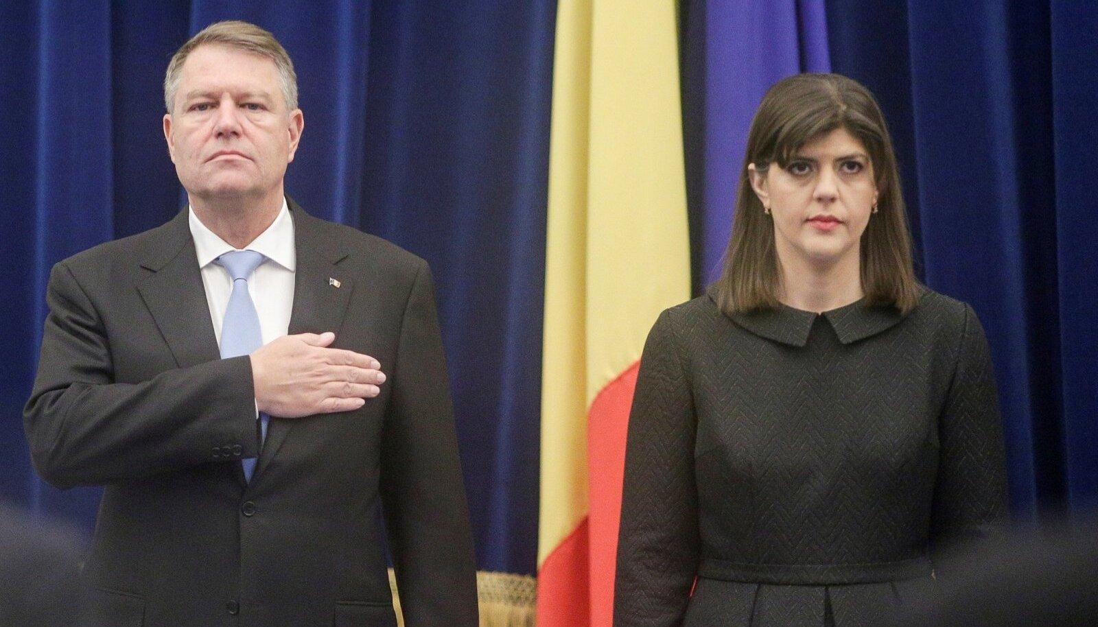 Klaus Iohannis ja Laura Codruța Kövesi