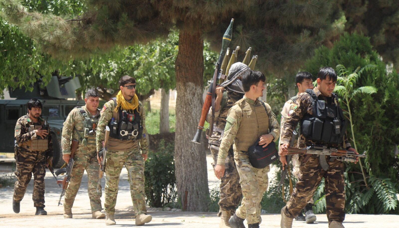 Afgaani väed Kunduzis.