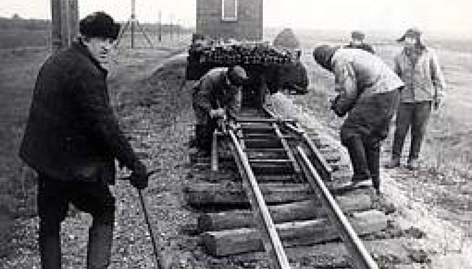 LÕPP: Virtsu raudtee lammutamine Lihula lähedal 1960. aastate lõpul. Eesti Muuseumraudtee kogu