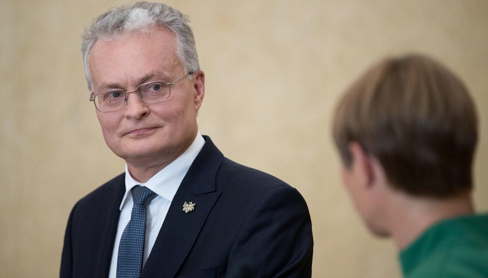 Erivolituste andmise palve laekus Leedu presidendile Gitanas Nausėdale valitsuselt.