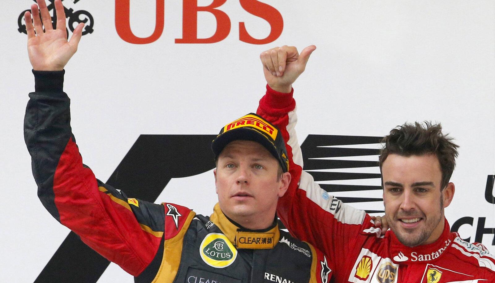 Kimi Räikkönen ja Fernando Alonso 2013. aastal
