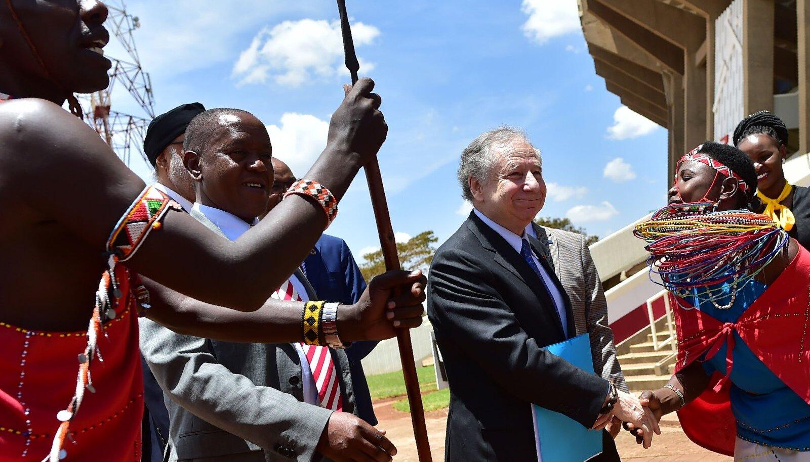 FIA president Jean Todt 2018. aastal Keeniat külastamas