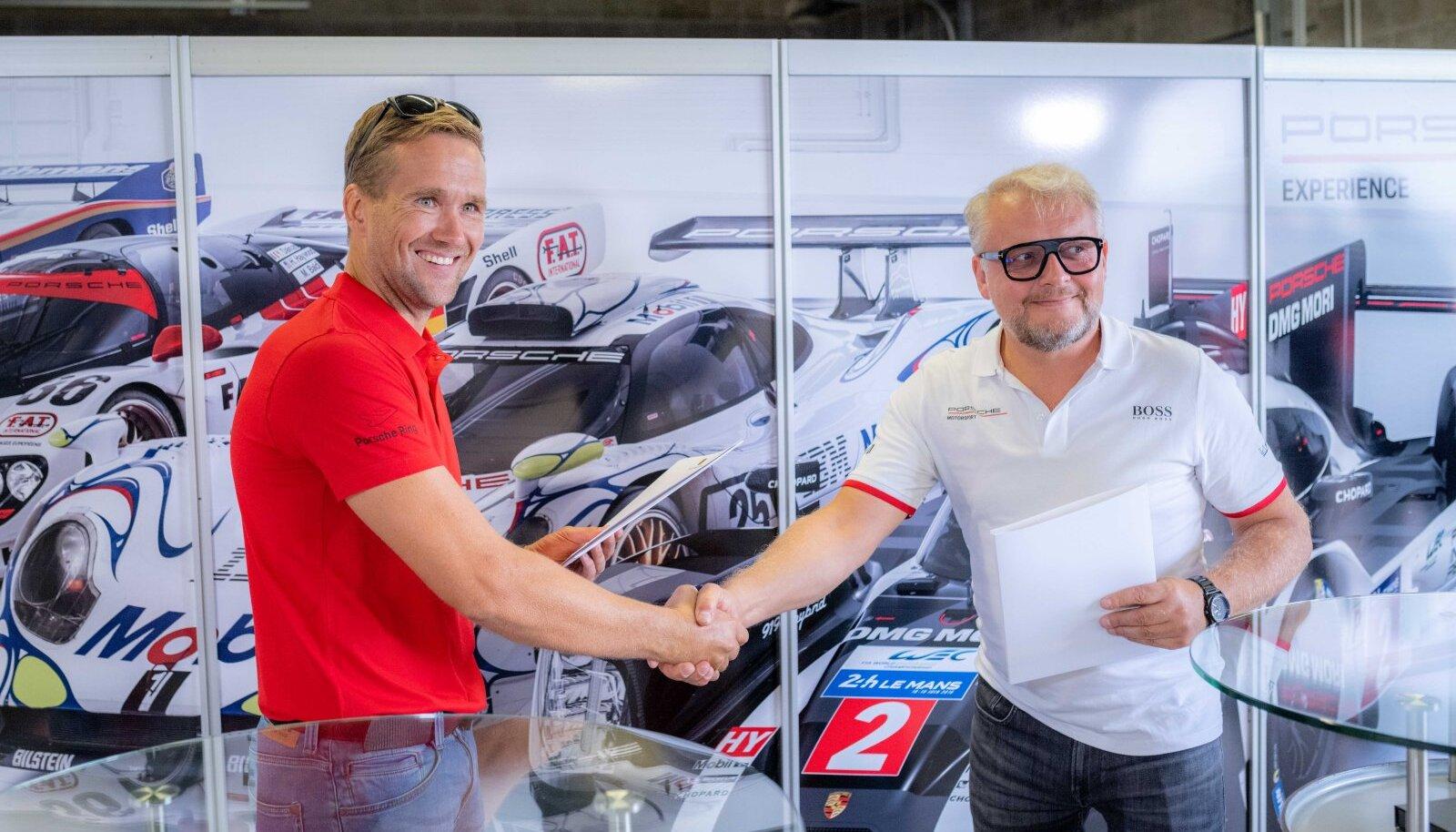 Porsche Eesti esindaja, Auto 100 ja Audru ringraja koostöölepingu sõlmimine