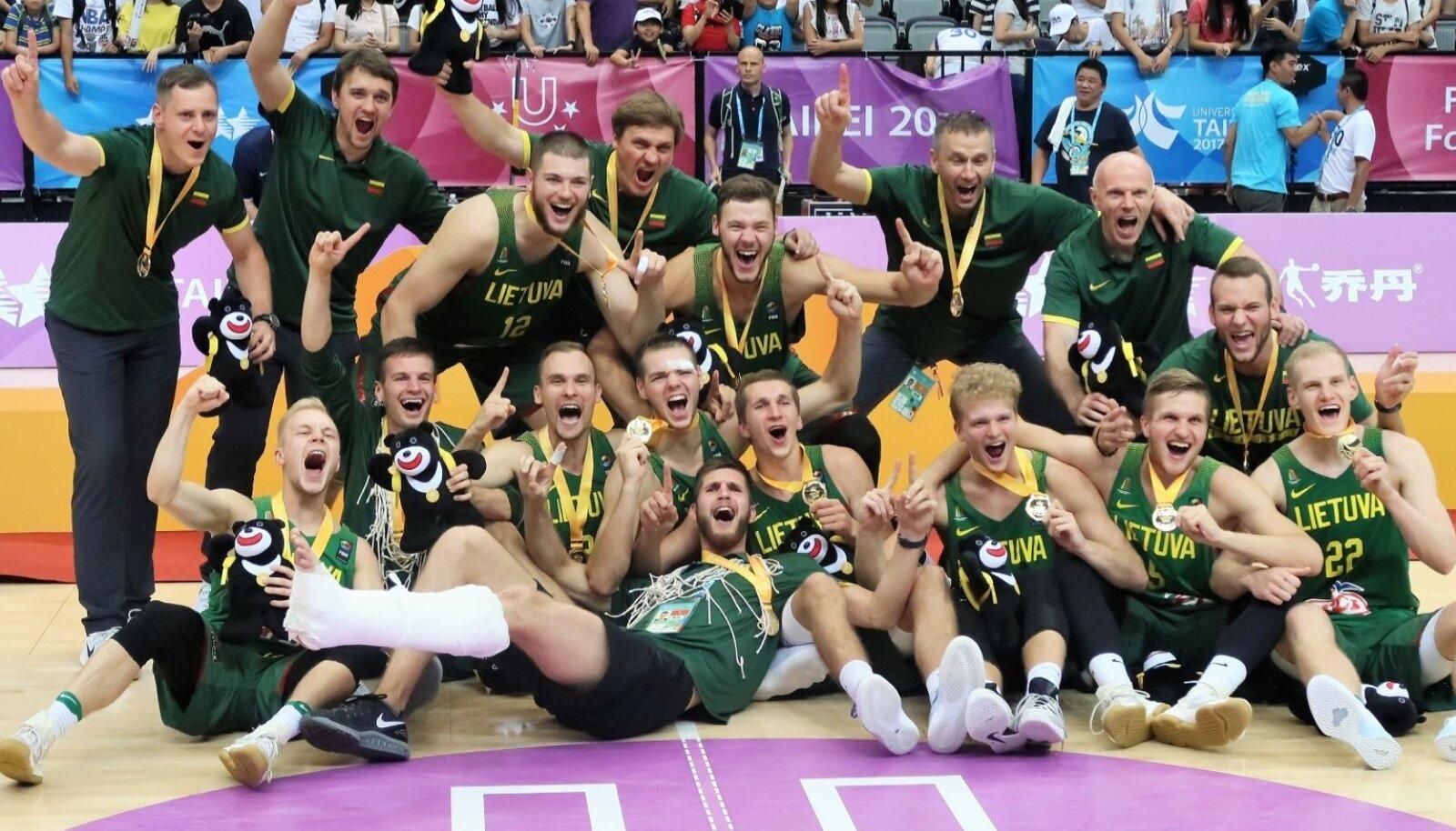 Universiaadi võitnud Leedu korvpallikoondis