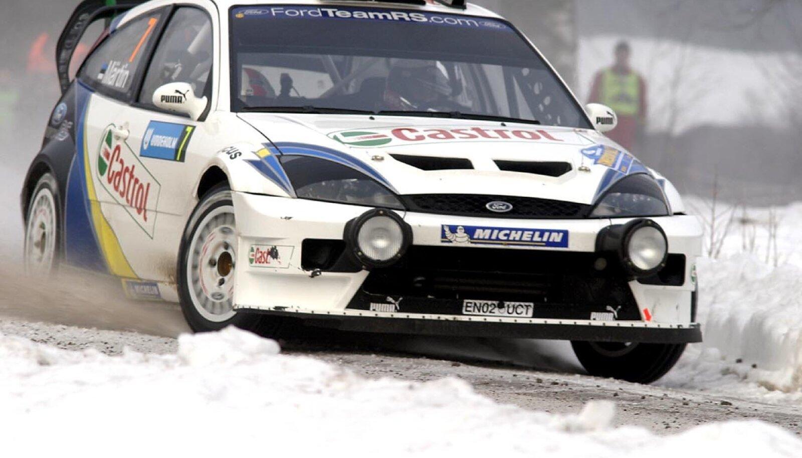 Markko Märtin Fordiga 2004. aasta Rootsi rallil