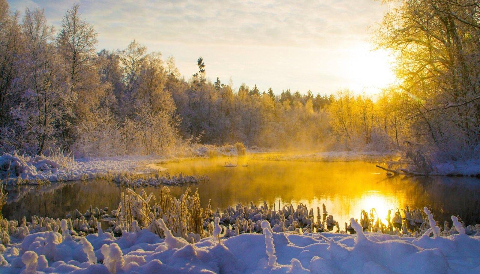 Talvine jäädvustus Simunast.