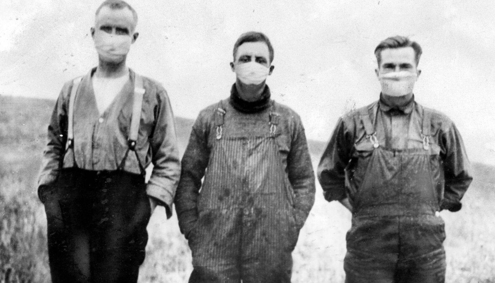 Канадские фермеры во время эпидемии испанки