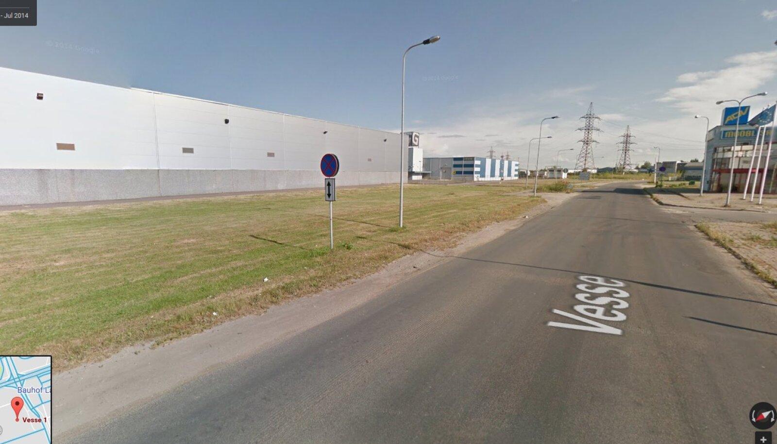 Tallinn, Vesse 1 juures (Google Street View ekraanitõmmis)