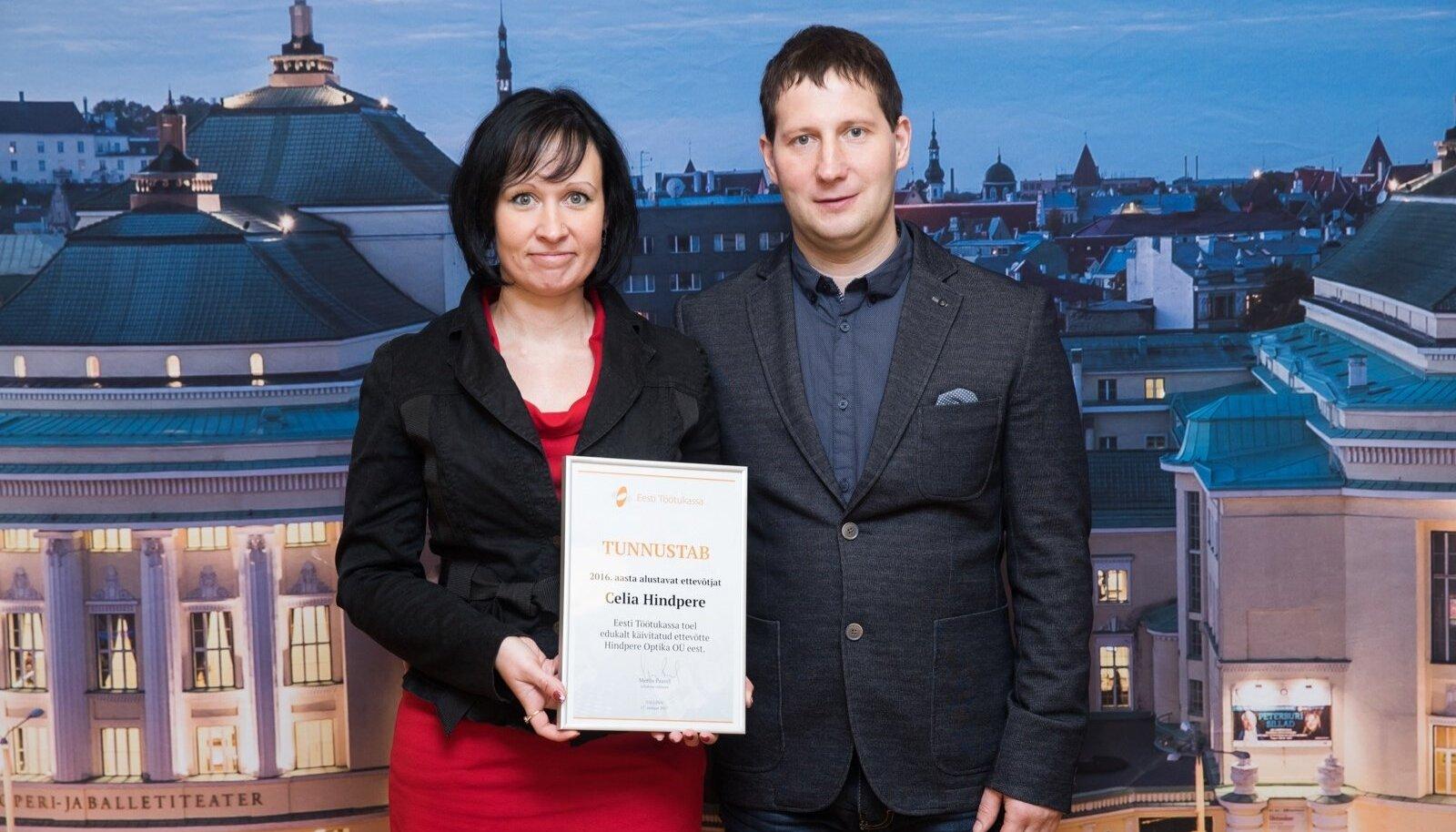 Perekond Hindpere. Töötukassa tunnustas Celiat eelmisel aastal õnnestunult käivitatud ettevõtte puhul.