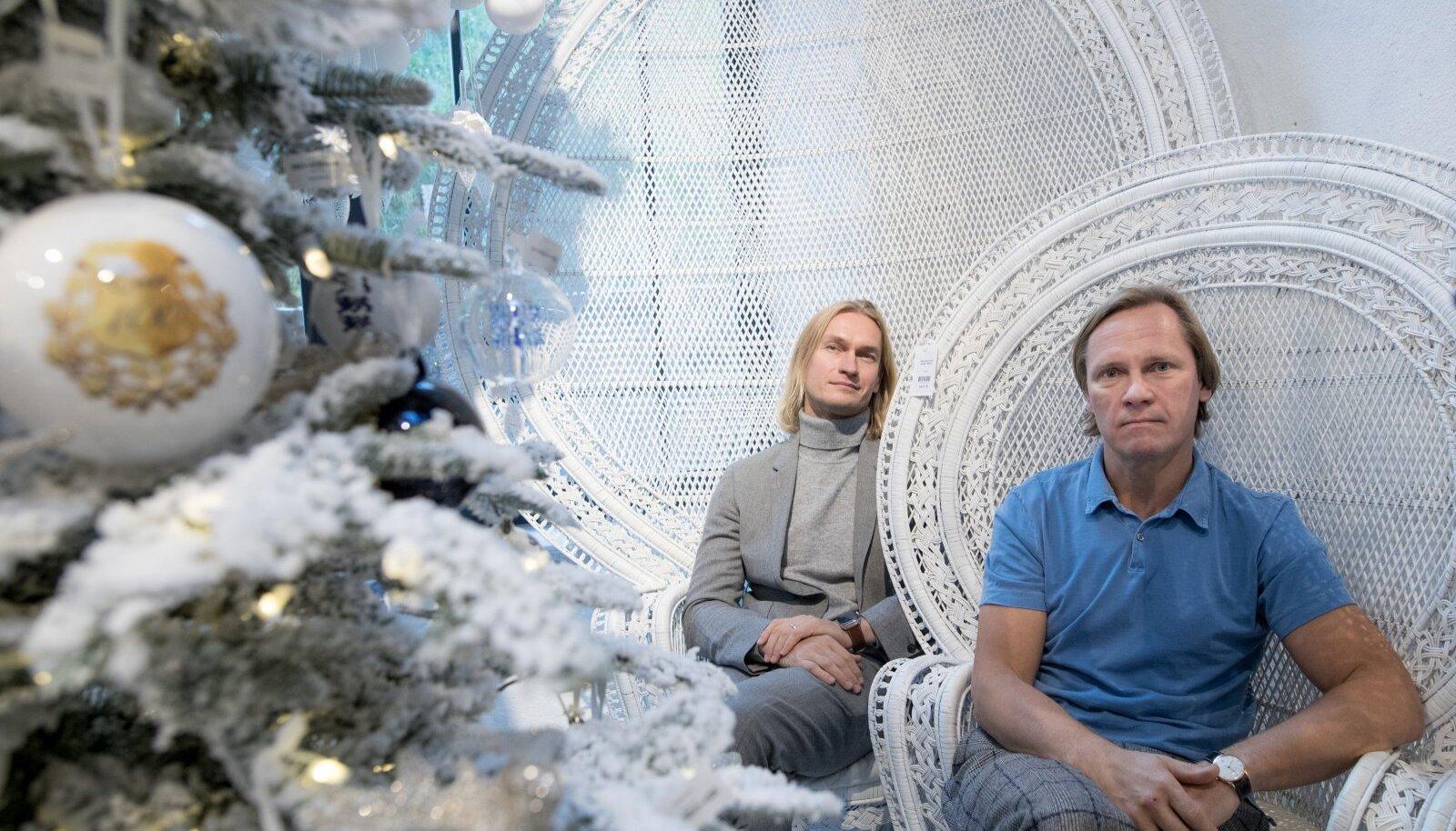 Abielupaar Mart Haber (vasakul) ja Taivo Piller on üles ehitanud võimsa ettevõtte.