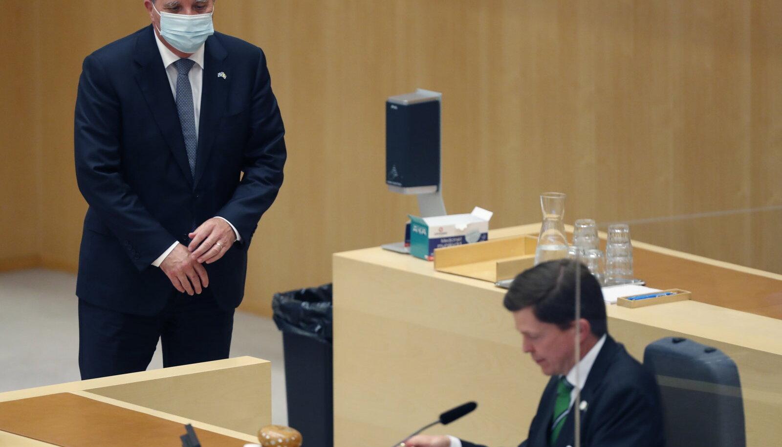 Stefan Löfven ja parlamendi spiiker Andreas Norlén