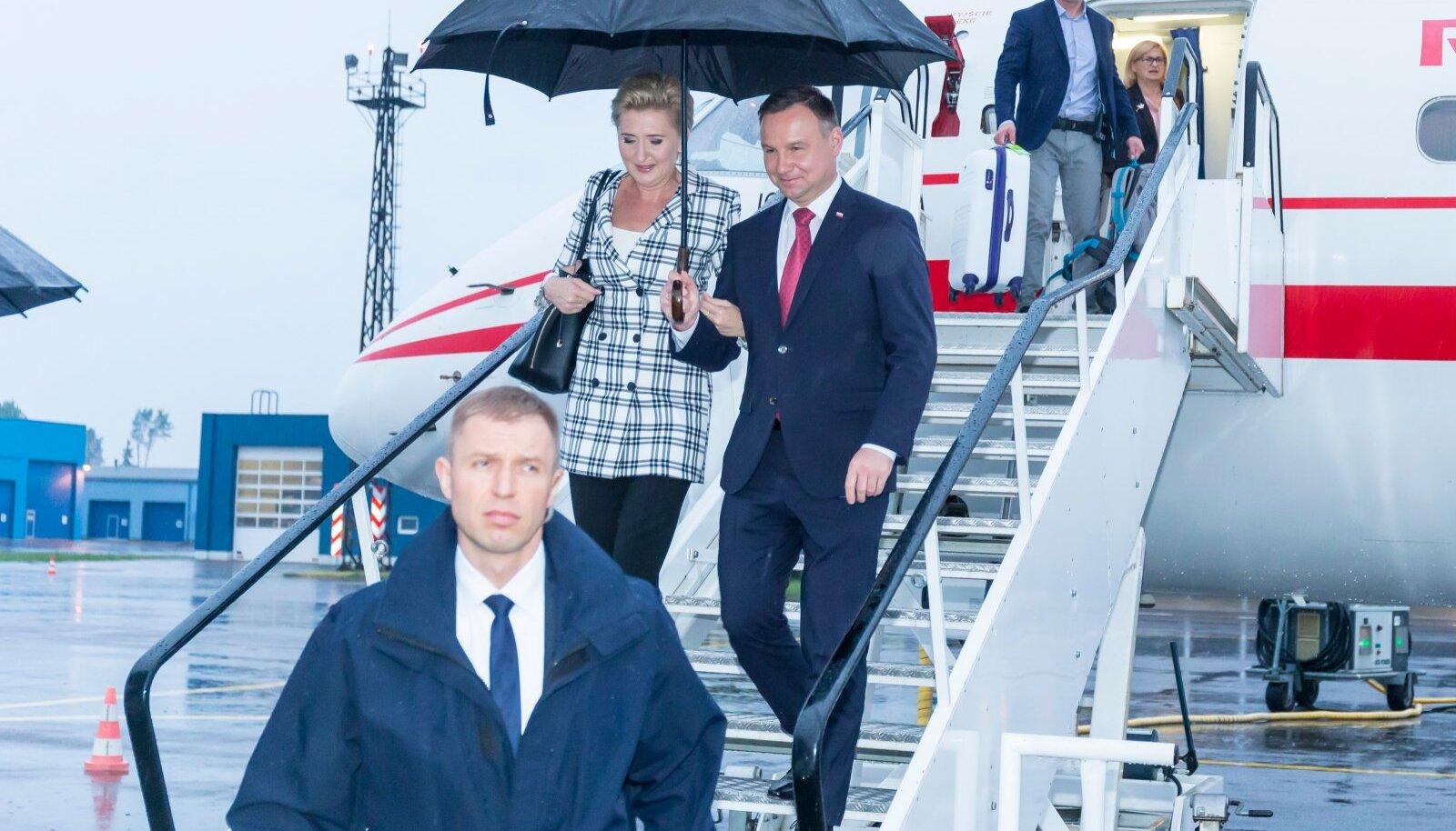 Poola president Andrzej Duda saabus Tartusse