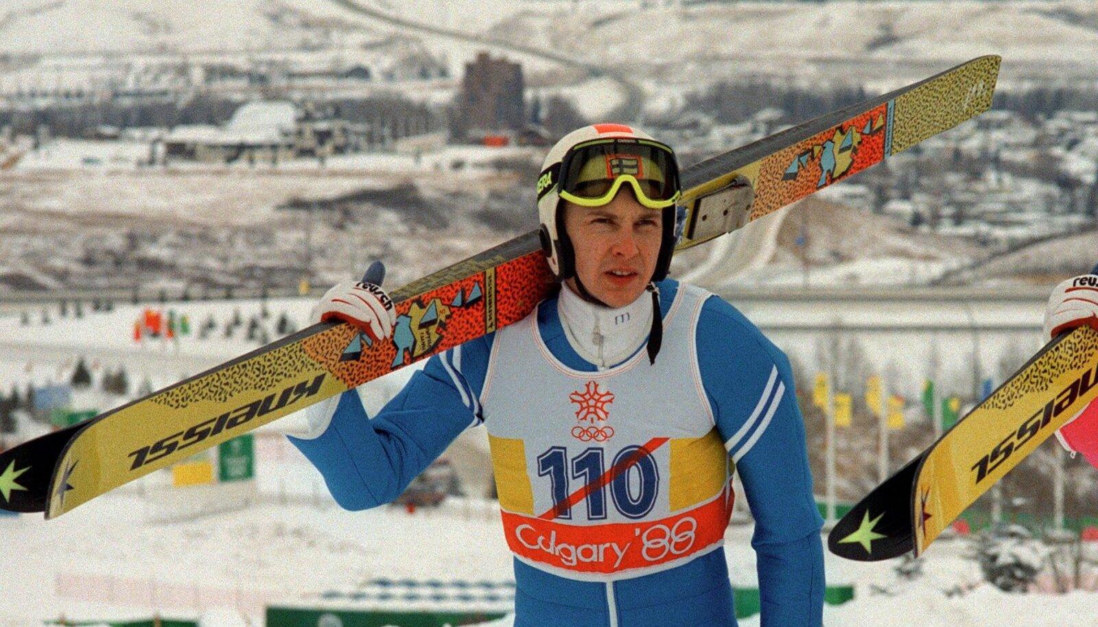 Matti Nykänen Calgary olümpial 1988