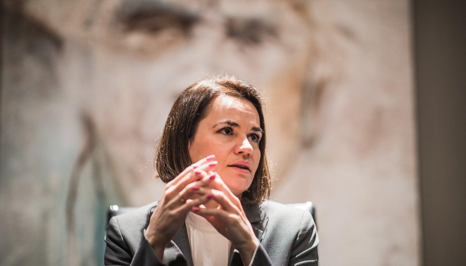 Valgevene opositsiooniliider Svetlana Tsihhanovskaja