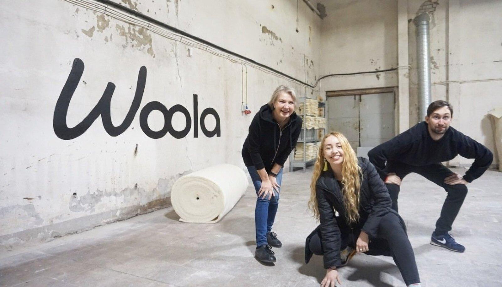 WOOLAKAD: Firma asutajad Katrin Kabun, Anna-Liisa Palatu ja Jevgeni Širai.
