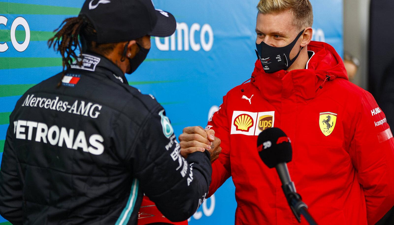 Lewis Hamilton ja Mick Schumacher