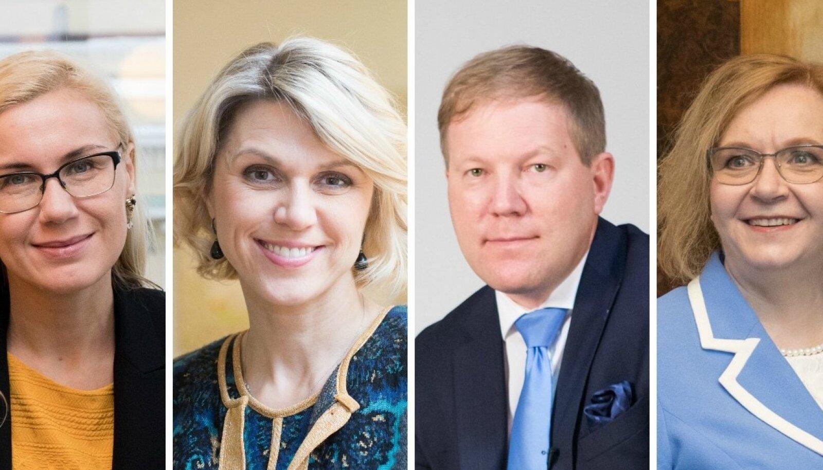 Kadri Simson, Urve Palo, Marko Mihkelson ja Maris Laur