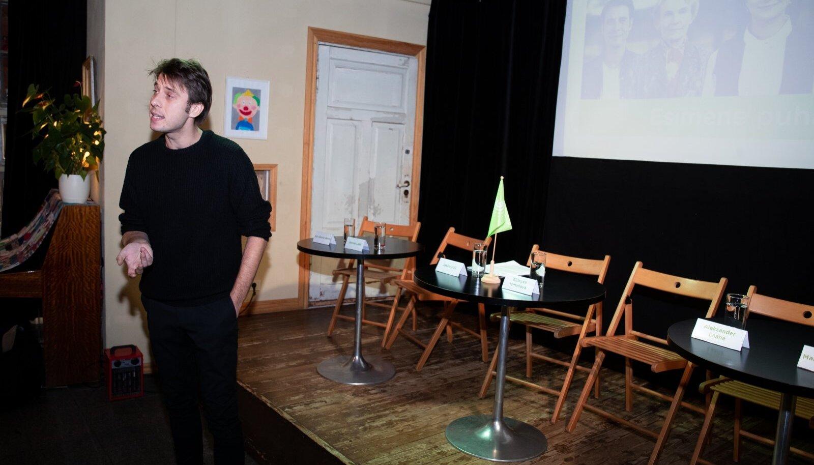 Eestimaa Roheliste pressikonverents Piip ja Tuut mängumajas