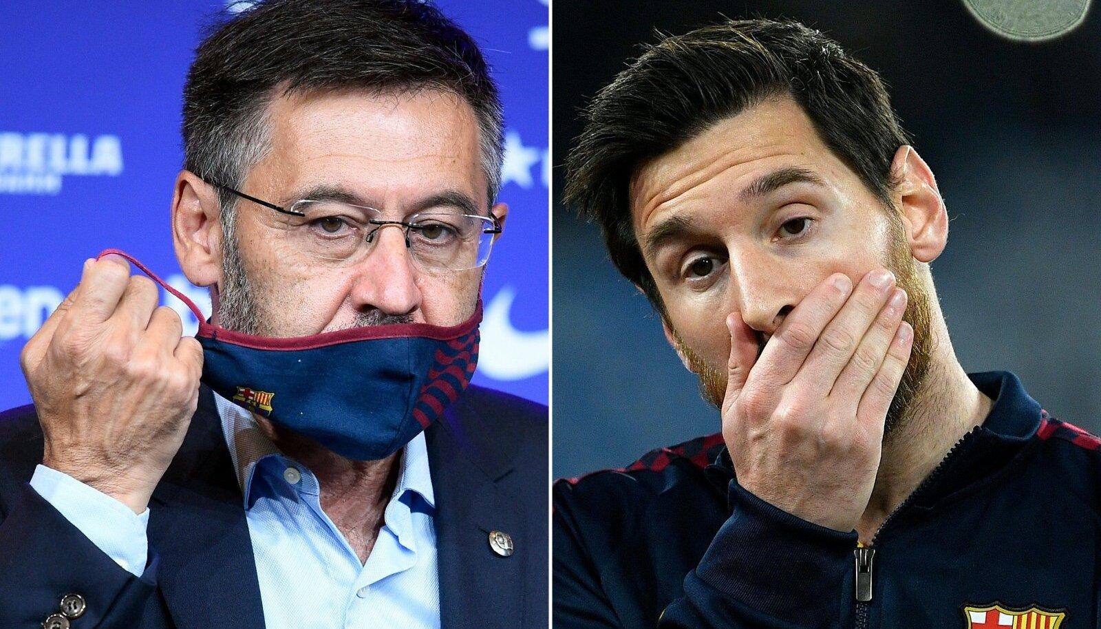 Josep Maria Bartomeu ja Lionel Messi.