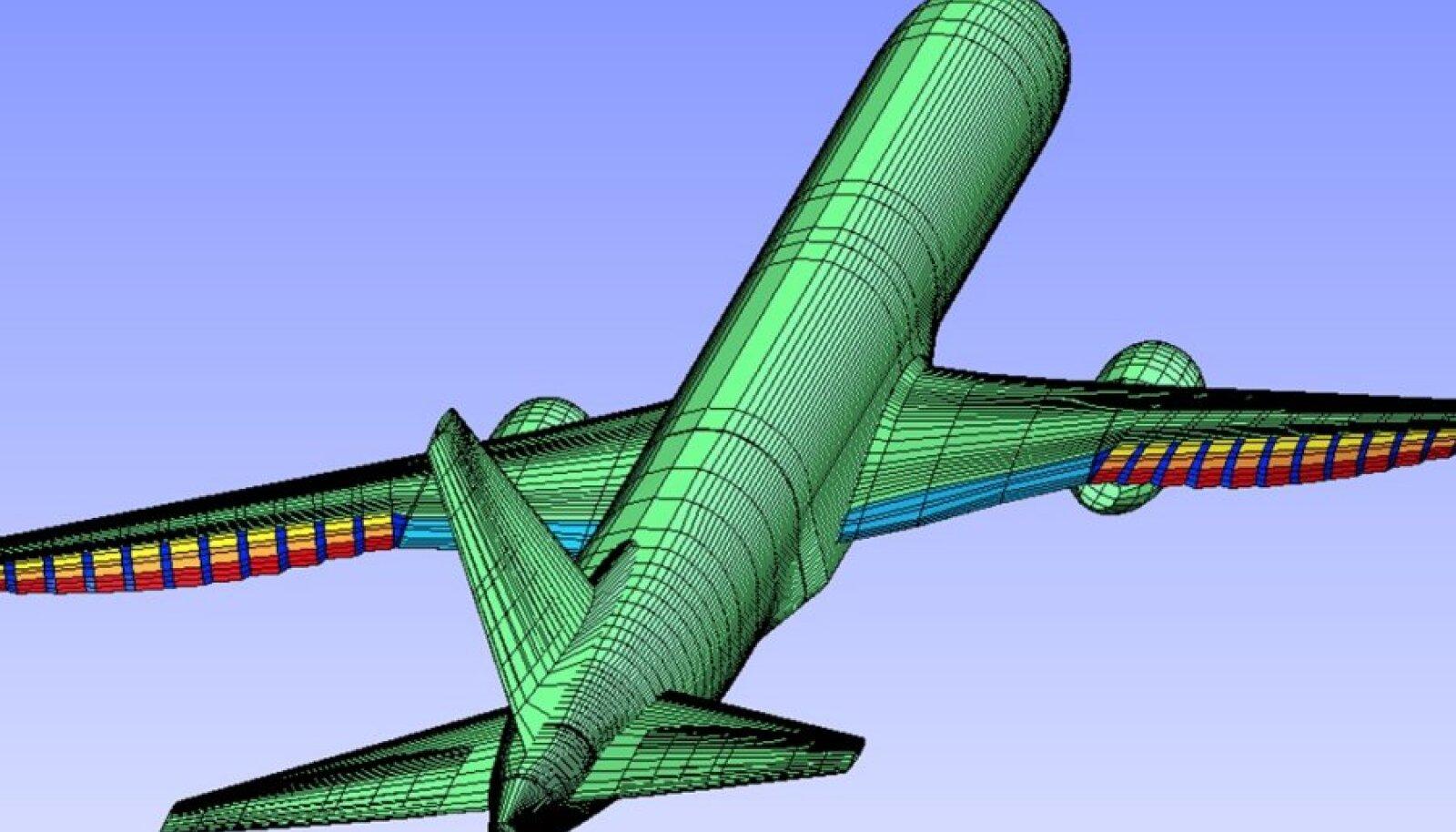 Boeingi ja NASA kavand painduvatest tiibadest.