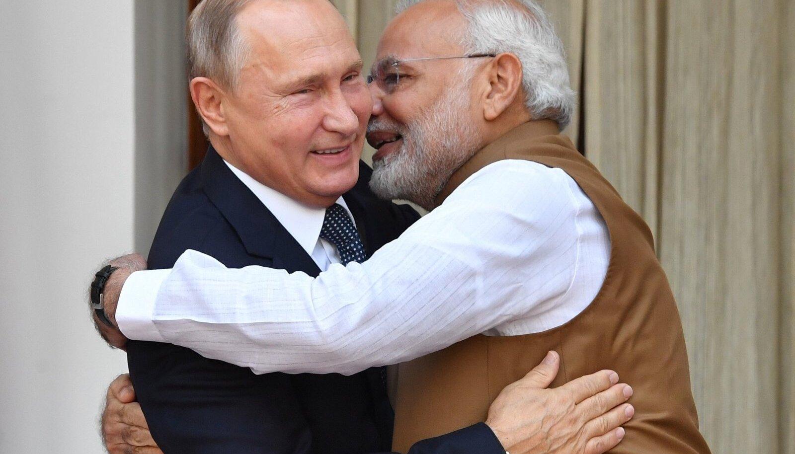 Vladimir Putin ja Narendra Modi