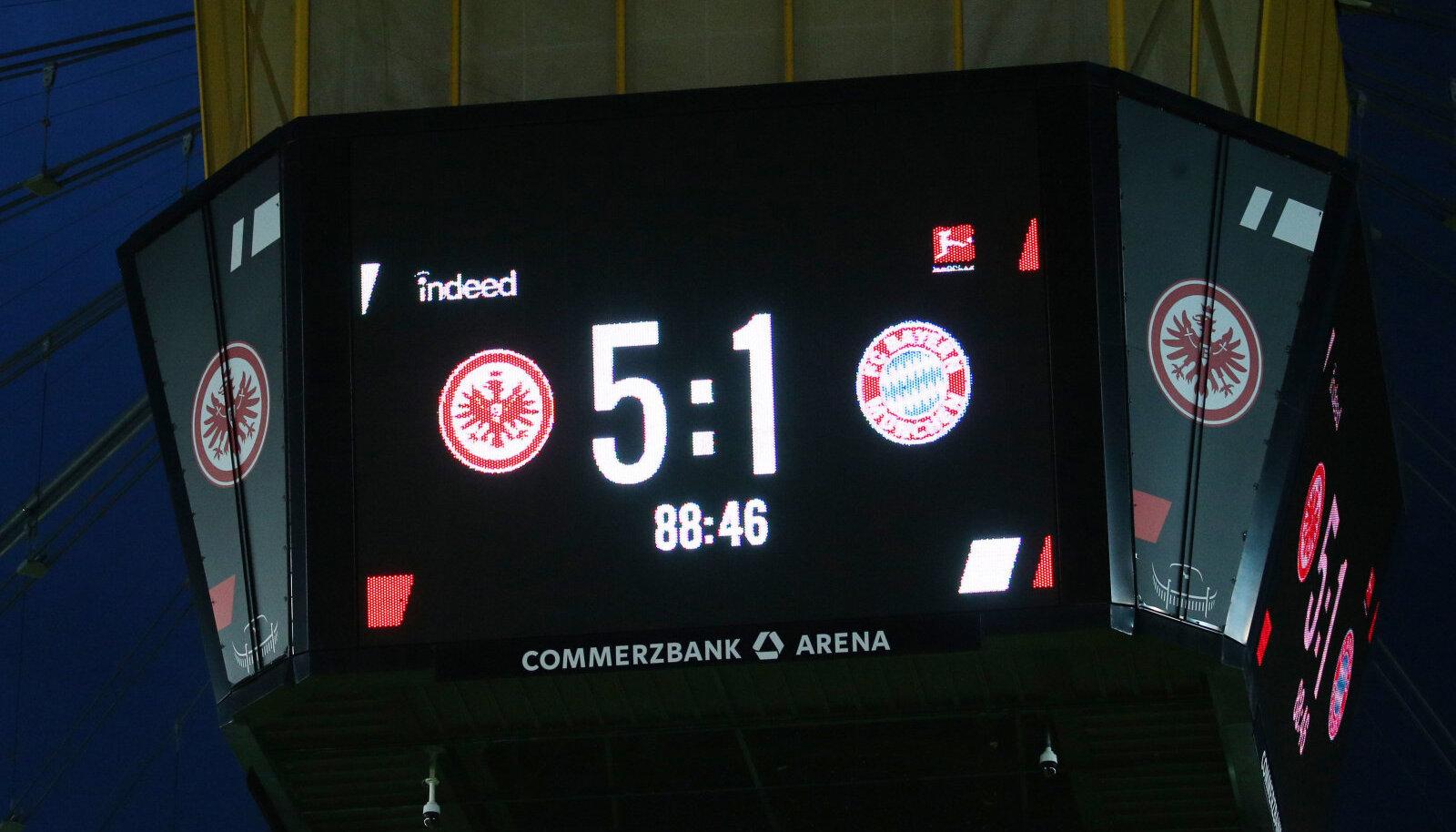 Müncheni Bayernist täna Frankfurdile vastast polnud