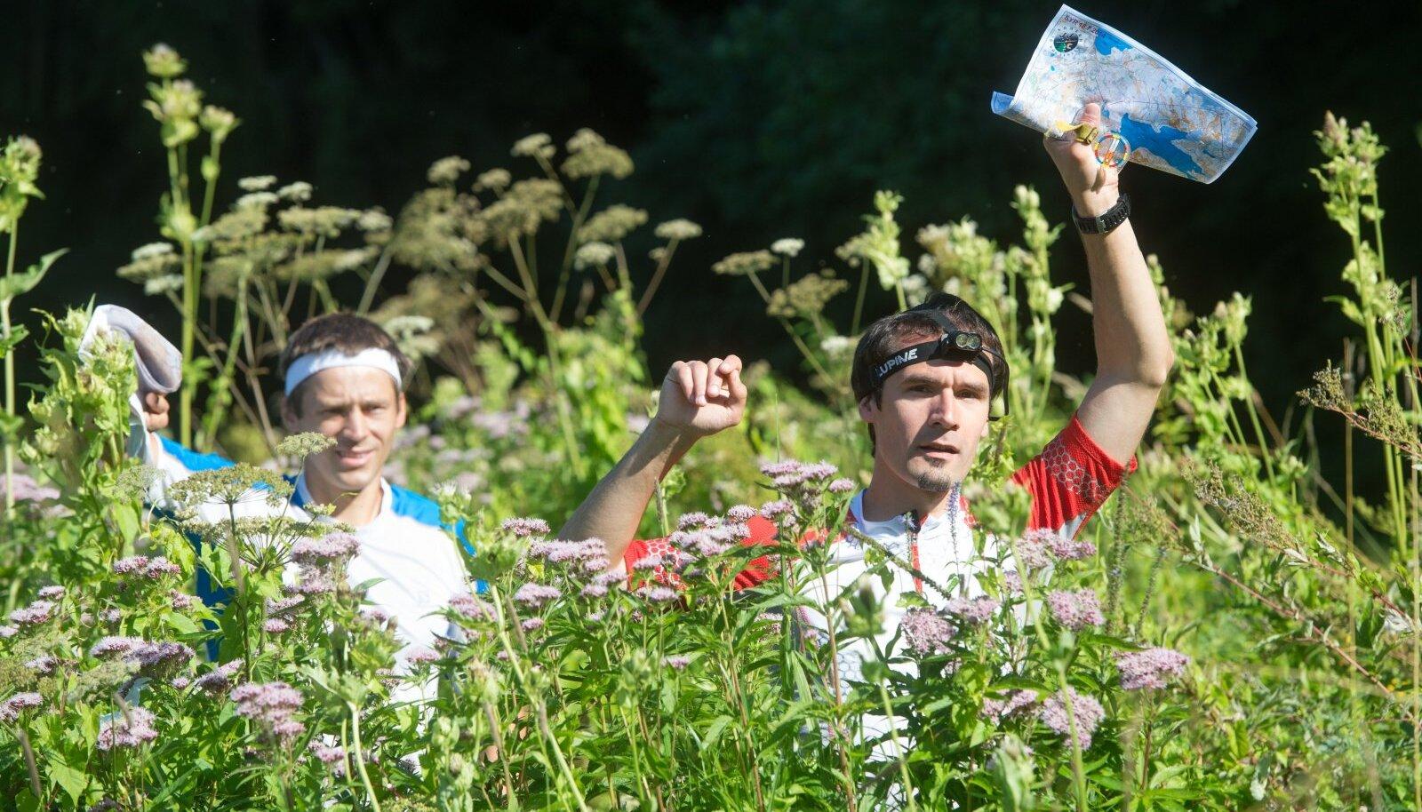 Rogaini maailmameistrid Silver Eensaar ja Timmo Tammemäe.